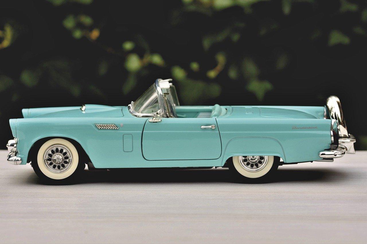 model car, ford, ford thunderbird